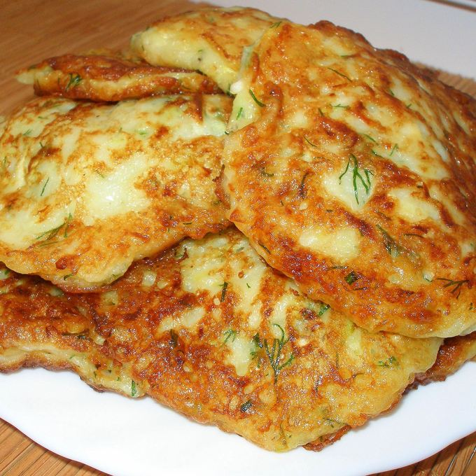 пошаговый рецепт с фото оладьи из кабачков
