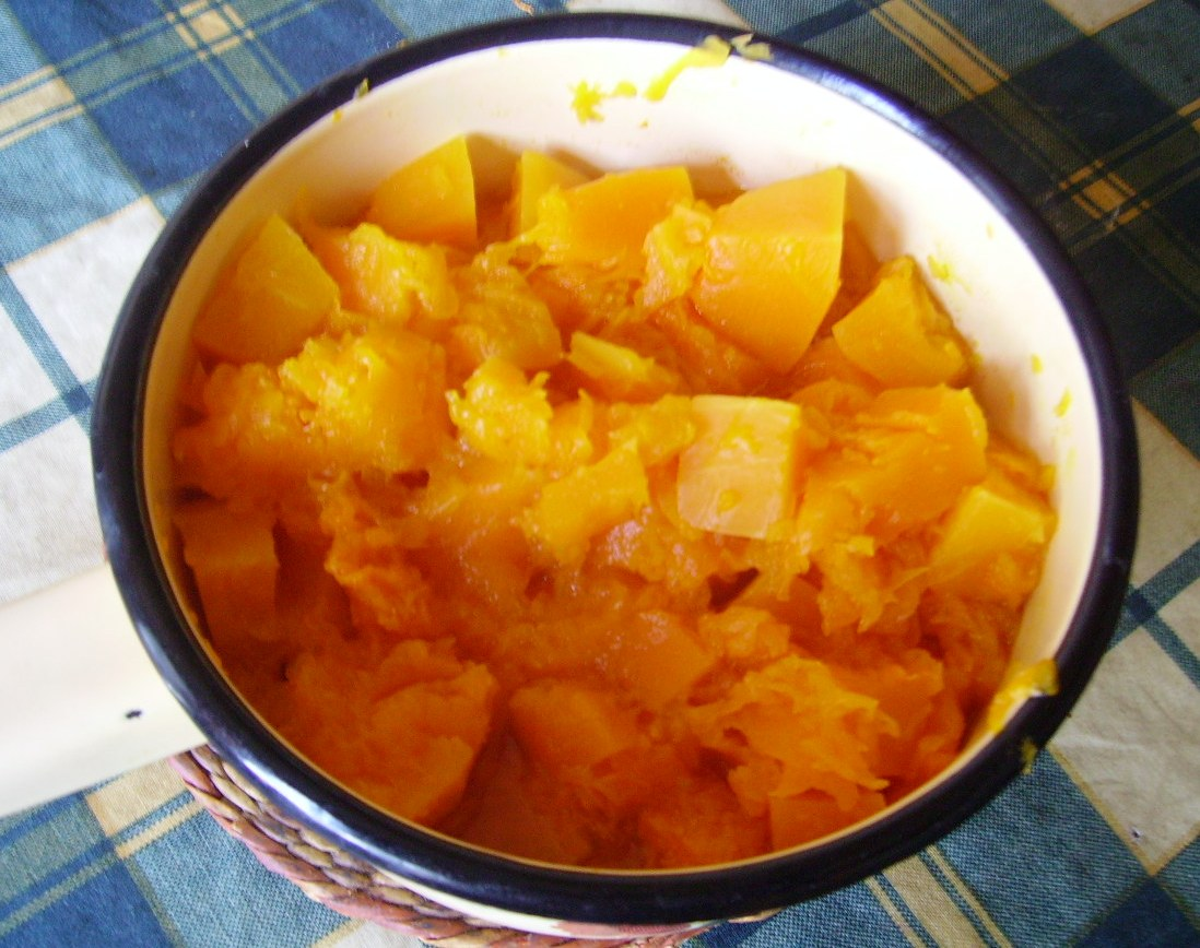 Вкусный десерт из тыквы