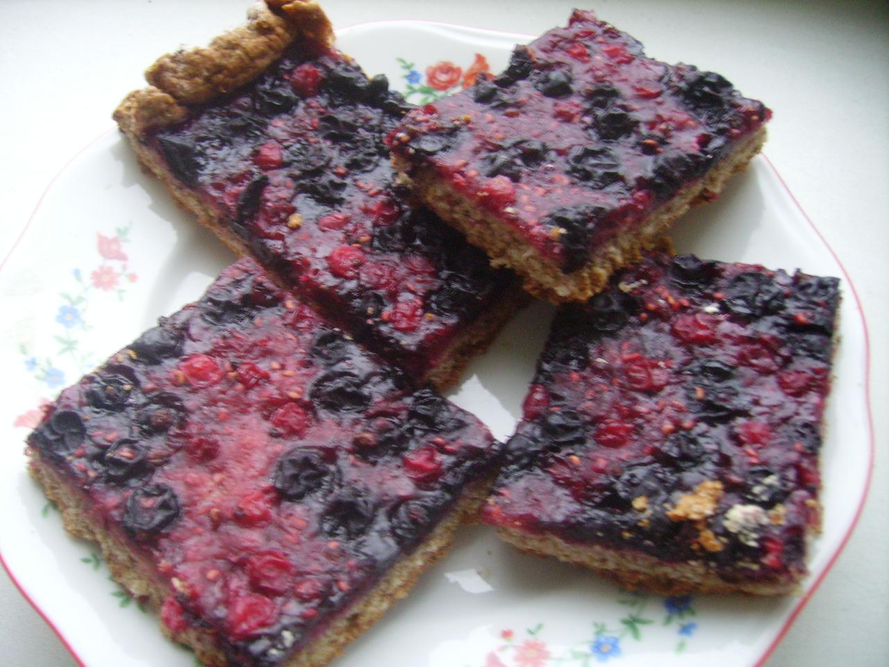 Простой пирог с ягодами