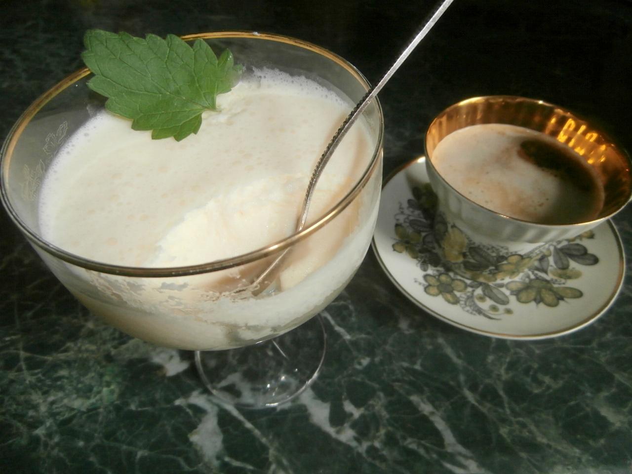 кефирный десерт с желатином