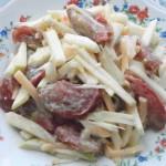 Миниатюра к статье Легкий летний салат с оригинальной заправкой