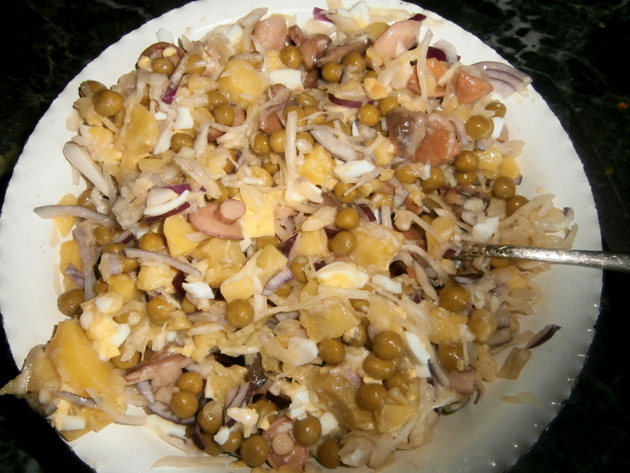Салат с грибами солеными рецепт пошагово в