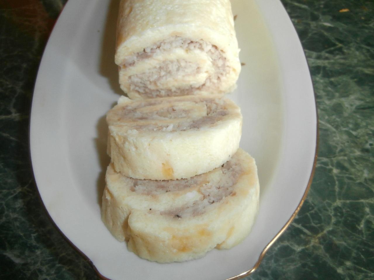 рецепт мясного рулета из куриного фарша