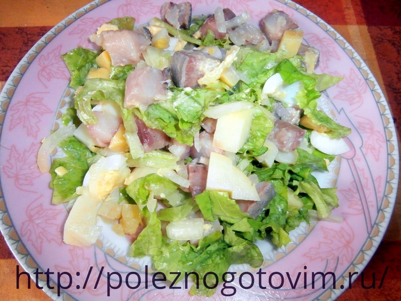 Легкие салаты с картошкой