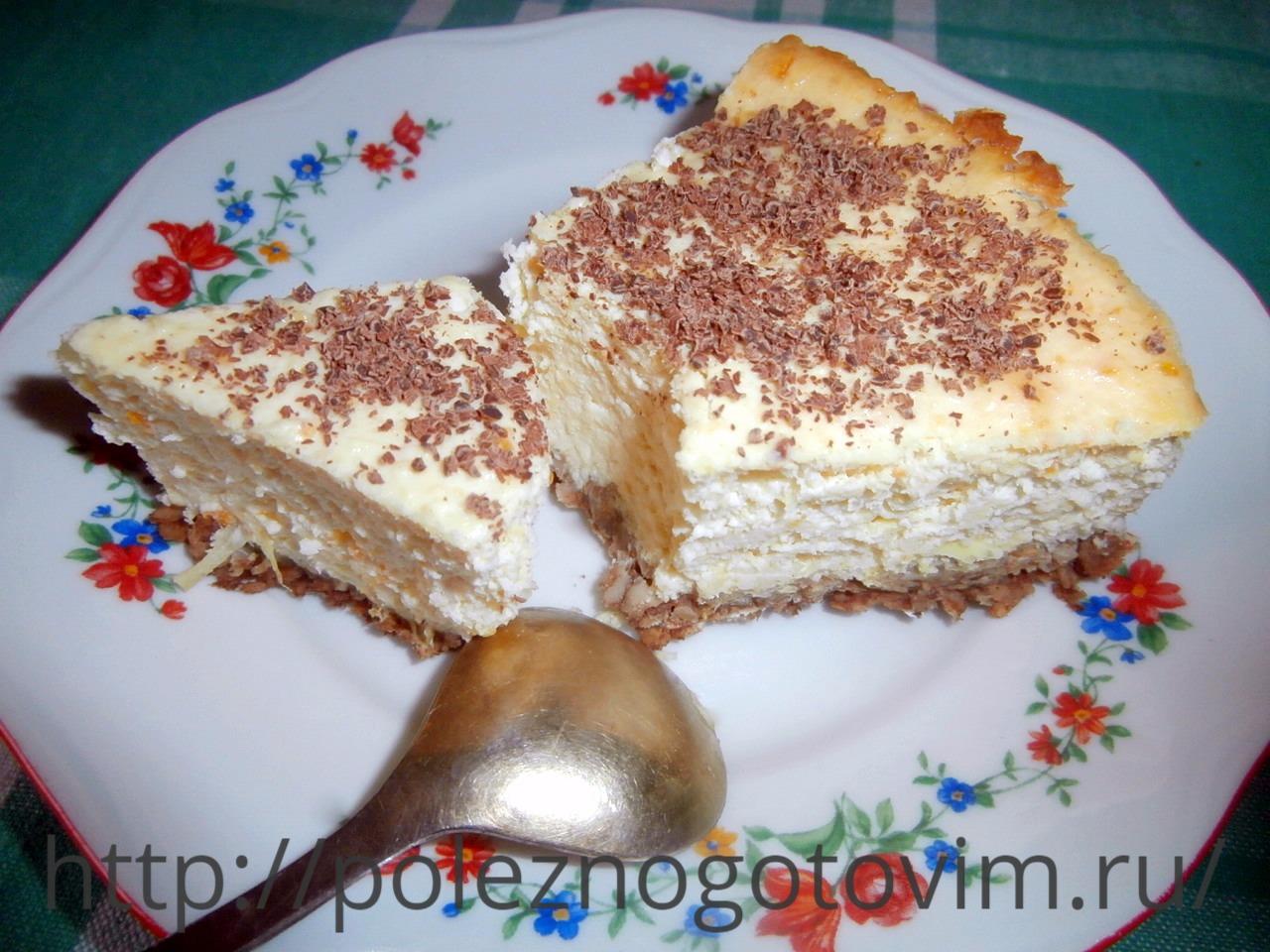Домашний чизкейк из творога рецепт пошагово в духовке