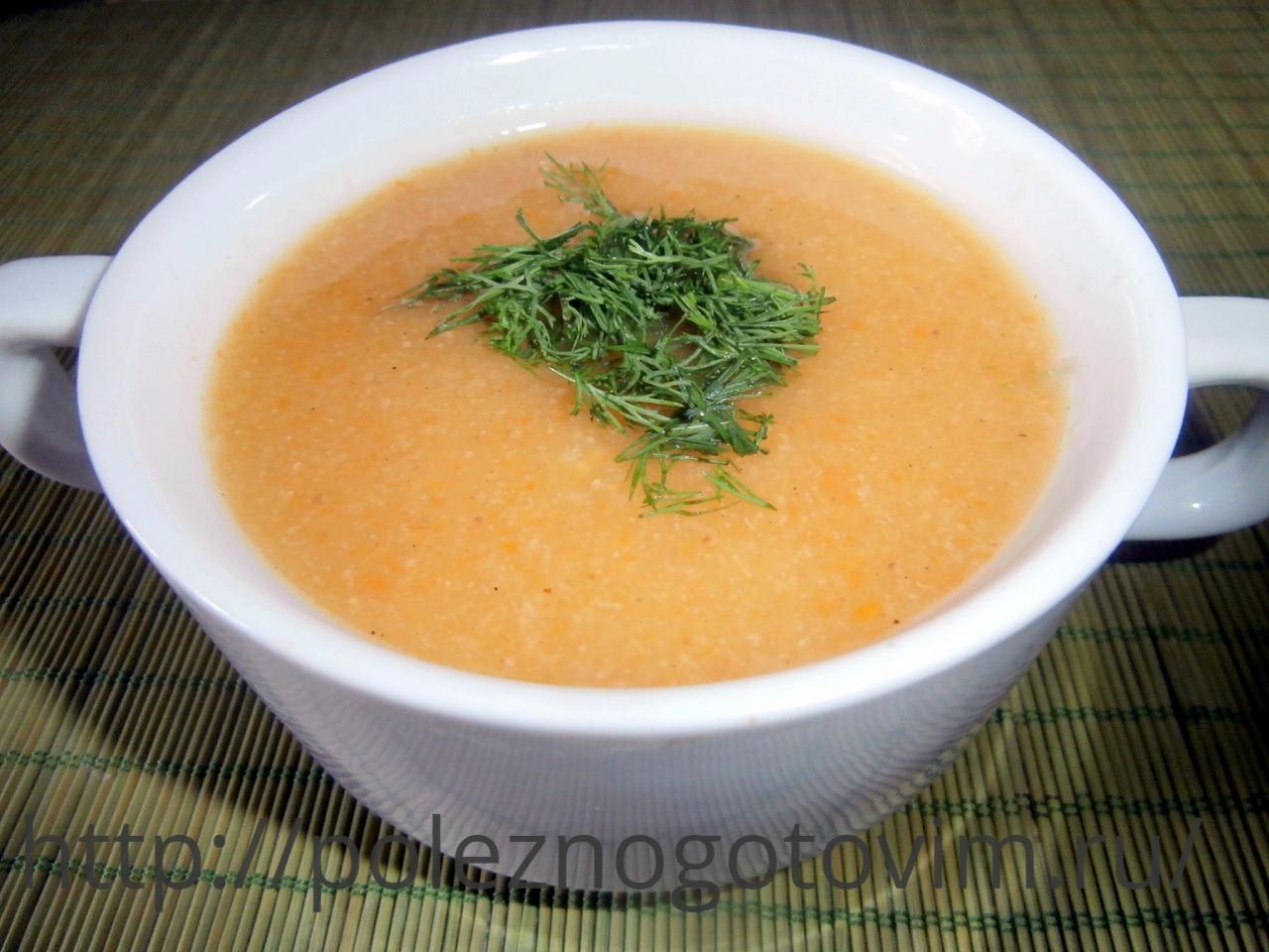 Диетический суп пюре из кабачков