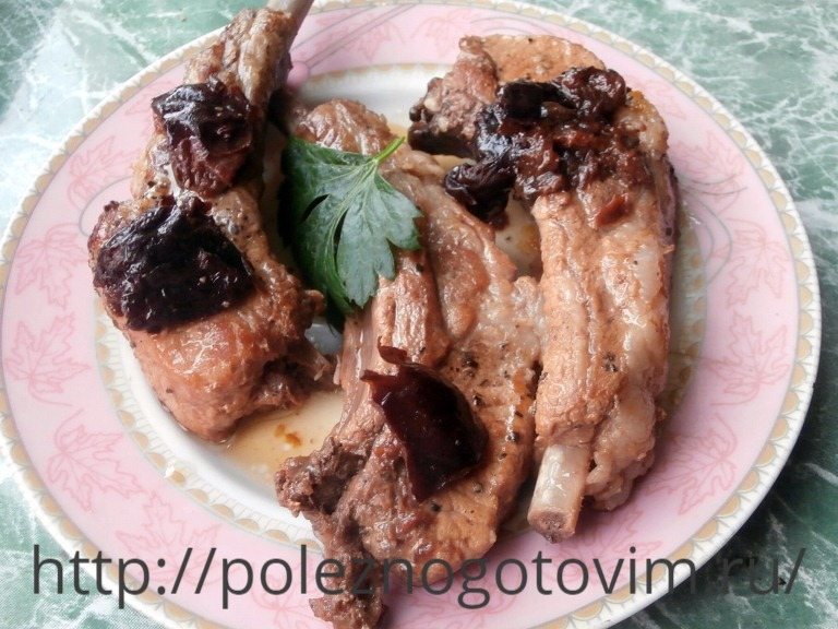 Вторые блюда из свиных ребрышек рецепты 8