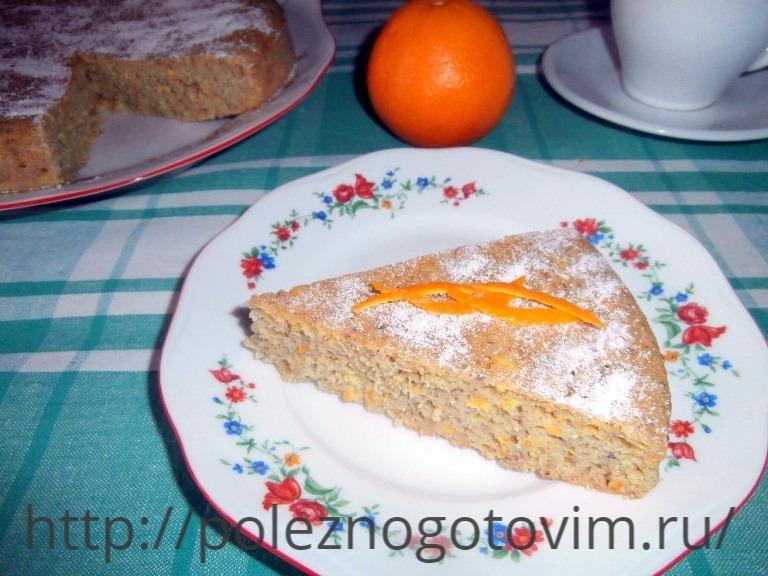 Пирог из манки рецепт с фото