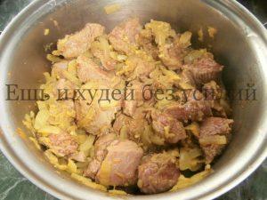 тушеное мясо с подливкой