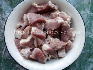 мясо в кисло-сладком соусе на кефире