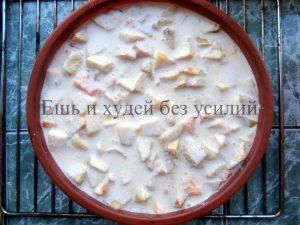 Яблочно – тыквенная запеканка с творогом