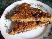 Миниатюра к статье Творожный пирог с ягодой и геркулесом