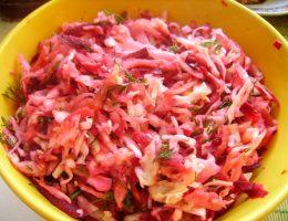 Миниатюра к статье Салат витаминный из капусты