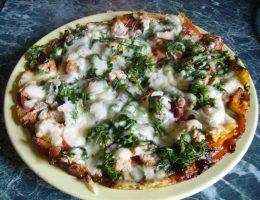 Миниатюра к статье Быстрая пицца на сковороде