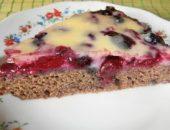 Миниатюра к статье Ягодный пирог с заварной помадкой