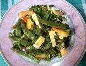 Миниатюра к статье Летний салат из стручковой фасоли