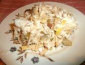 Миниатюра к статье Сытный и вкусный салат из свежей капусты с курицей