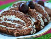 Миниатюра к статье Шоколадный пирог с халвой
