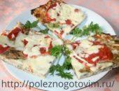 Миниатюра к статье Диетическая пицца из кабачков