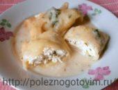 Миниатюра к статье Диетические голубцы с творожно-сырной начинкой