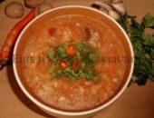 Миниатюра к статье Грузинский суп харчо из говядины в русской вариации