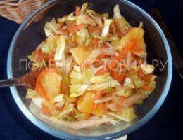 Миниатюра к статье Легкий салат из пекинской капусты с апельсином