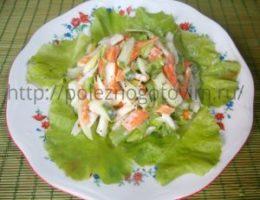 Миниатюра к статье Легкий витаминный салатик для позднего ужина