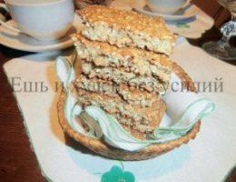 Миниатюра к статье Овсяное печенье с кунжутом за 5 минут