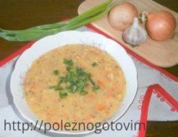 Миниатюра к статье Постный гороховый суп