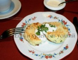 Миниатюра к статье Чудесные ПП сырники с сыром и зеленью