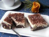 Миниатюра к статье Шоколадно – творожный пирог с фруктами. Потрясающее лакомство для худеющих!
