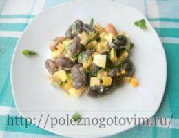 Миниатюра к статье Сытный и вкусный салат с фасолью
