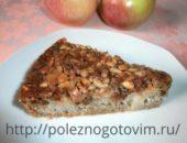 Миниатюра к статье Яблочная шарлотка с карамелизованными семечками