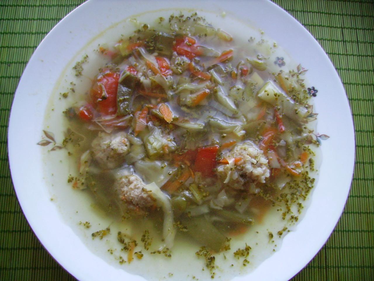 Миниатюра к статье Овощной суп с фаршем