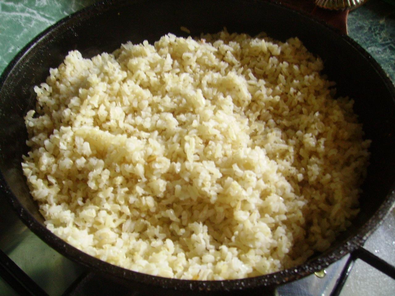 рецепт приготовления риса