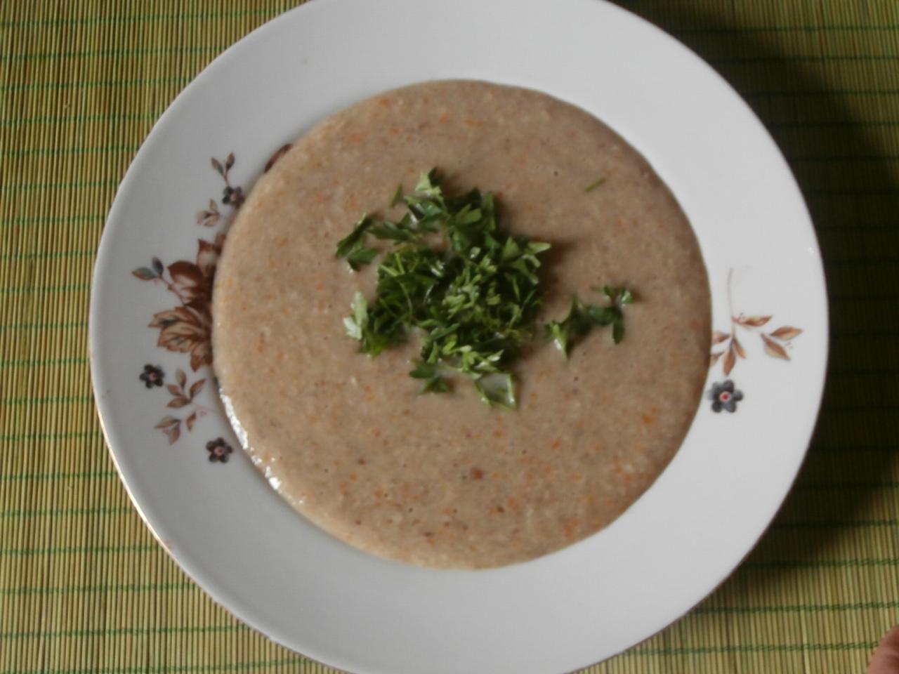 Миниатюра к статье Легкий и вкусный суп-пюре из грибов