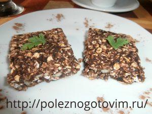 Миниатюра к статье Шоколадно – овсяное печенье без выпечки