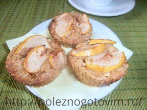 Миниатюра к статье Овсяные кексы с яблоком