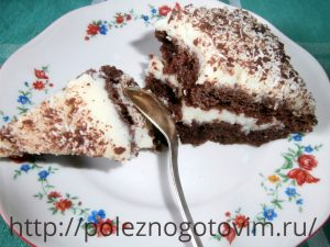 Миниатюра к статье Быстрый торт на кефире «Черный принц»