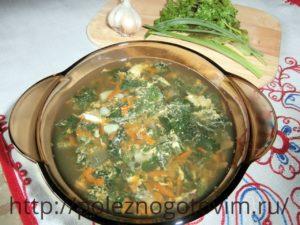 Миниатюра к статье Диетический суп с крапивой и яйцом