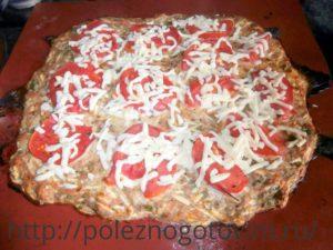 домашняя пицца из кабачков