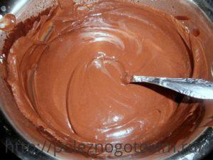 шоколадный крем для торта