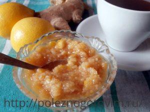 имбирь, лимон и мед