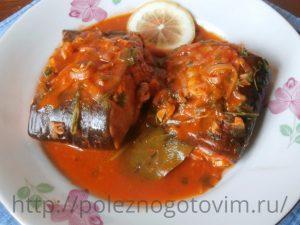 Миниатюра к статье Тушеная рыба в томатном соусе