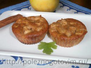кексы с яблоком