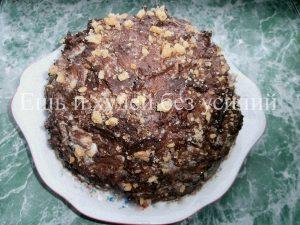 торт с бнананами