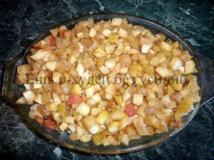 Творожно – яблочный пирог из лаваша