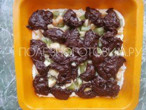Шоколадно – творожный пирог