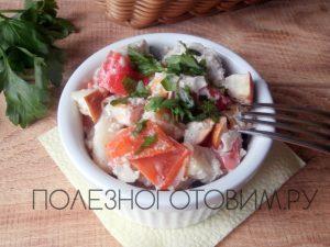 Миниатюра к статье Запеченное куриное филе в духовке с яблоками и перцем: удобное блюдо на скорую руку