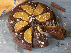 Миниатюра к статье Медовый пирог ПП с апельсином и овсянкой, без сахара и яиц. Идеальная выпечка здорового питания